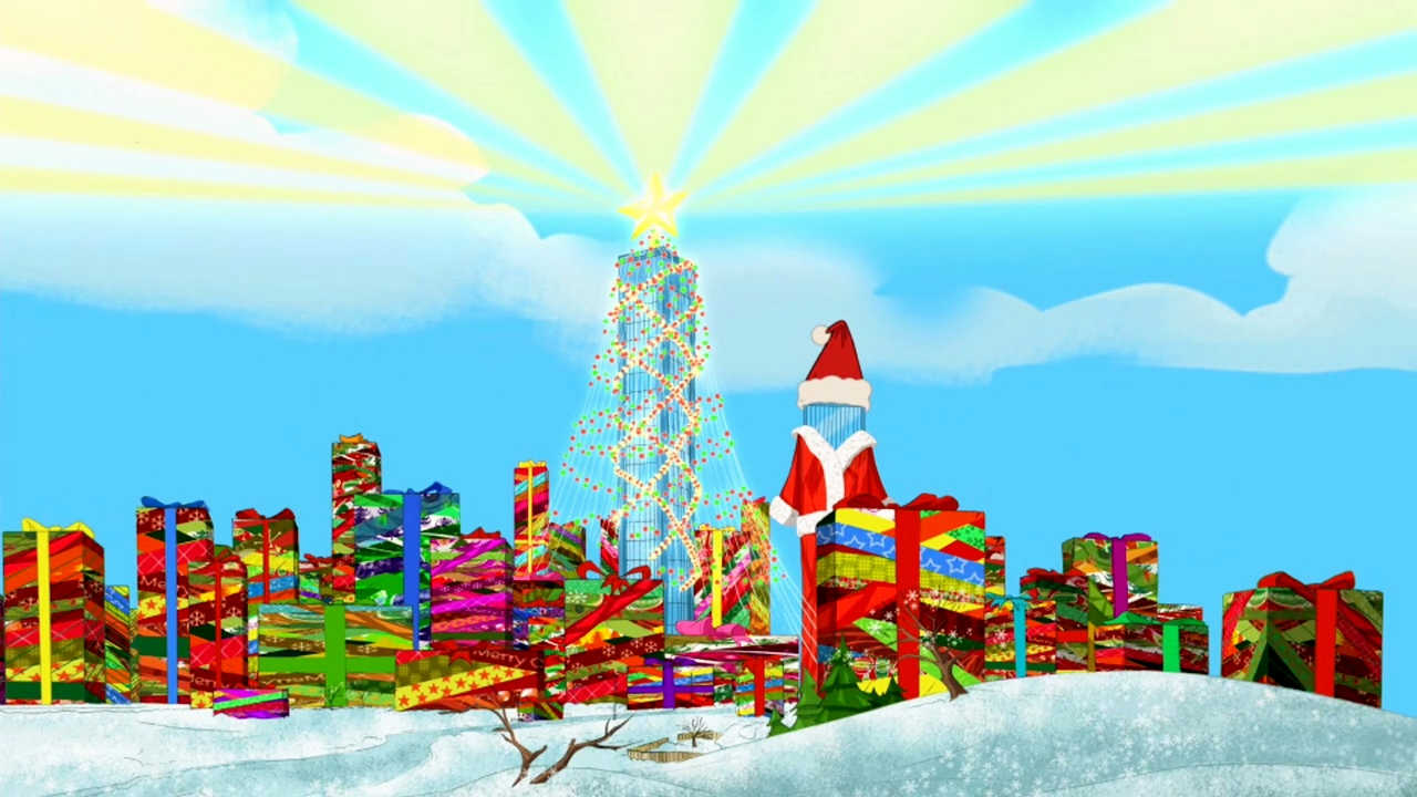 "From ""Phineas and Ferb Christmas Vacation"" That Christmas Feeling Sequence"